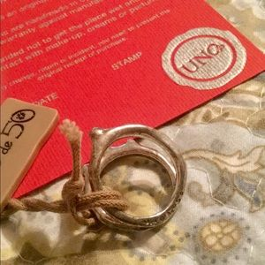 UNO de 50 Jewelry - Uno de Silver Double Band Ring ❤️ NWT ♥️Sz 7